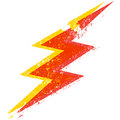 Grunge lightning bolt Stock Photo