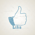 Grunge like symbol hand for social network media Royalty Free Stock Images