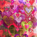 Grunge love pattern background Royalty Free Stock Photos