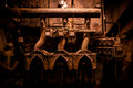 Grunge machinery in industrial surroundings Royalty Free Stock Image
