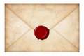 Grunge mail envelope or letter sealed Stock Image