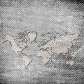 Grunge map Royalty Free Stock Images