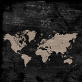 Grunge map of the world Royalty Free Stock Photo