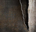 Grunge metal background with torn edges Royalty Free Stock Photo