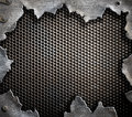 Grunge Metal Background With T...