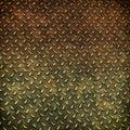 Grunge metal diamond plate background Royalty Free Stock Photo