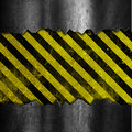 Grunge metal and stripes background with yellow black striped design Stock Photography
