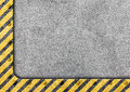 Grunge metal template with warning stripe background Royalty Free Stock Photo