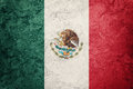 Grunge Mexico flag. Mexican flag with grunge texture. Royalty Free Stock Photo