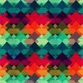 Grunge mosaic seamless pattern Royalty Free Stock Photo