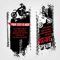 Grunge motorcross banners