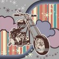 Grunge Motorcycle Background Royalty Free Stock Photography