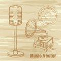 Grunge music vector Royalty Free Stock Photo
