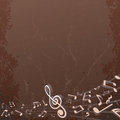 Grunge Musical Background. Vector Backdrop Image Royalty Free Stock Photo