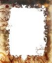 Grunge nature frame Stock Image