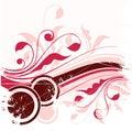 Grunge nature illustration  Stock Image