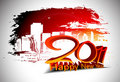 Grunge new year 2011 design Royalty Free Stock Image