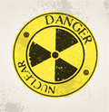 Grunge nuclear sign vector illustration background Stock Photography