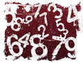 Grunge Number Background Royalty Free Stock Image