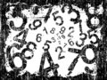 Grunge Number Background Stock Photos