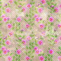 Grunge old flowers floral retro vintage print paper scrapbook Royalty Free Stock Photo