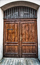 Grunge old house home wooden door vintage Royalty Free Stock Photo