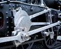 Grunge old steam locomotive Royalty Free Stock Photo