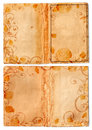Grunge open swirl book pages Royalty Free Stock Photo