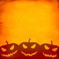 Grunge orange halloween background Royalty Free Stock Photo