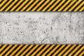 Grunge Orange Pattern with Warning Stripe Royalty Free Stock Photo