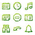 Grunge organizer contour icons Stock Photography