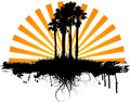 Grunge palm trees Royalty Free Stock Photo