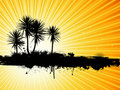 Grunge palm trees background Royalty Free Stock Photo