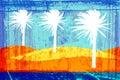 Grunge palms Royalty Free Stock Photo