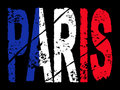 Grunge Paris text with flag Stock Photos