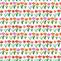 Grunge pattern with small hand drawn flowers. Royalty Free Stock Images