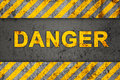 Grunge Pattern with Warning Text (Danger) Royalty Free Stock Image