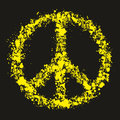 Grunge peace symbol pacific vector illustration hippie Stock Photo