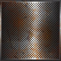 Grunge performated metal background Royalty Free Stock Photography