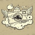 Grunge photo camera Royalty Free Stock Photography