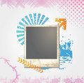 Grunge photo frame Stock Image