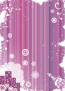 Grunge pink background with urban elements Royalty Free Stock Photo
