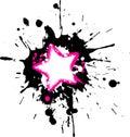 Grunge pink star frame Royalty Free Stock Photo