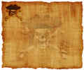 Grunge Pirate Skull Parchment Royalty Free Stock Images
