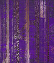 Grunge purple wood scroll print Royalty Free Stock Photo