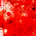 Grunge red background with splashes square format Stock Photography