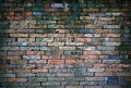 Grunge red brick wall a Stock Photos