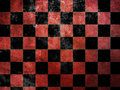 Grunge red checkers Stock Image
