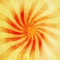 Grunge red and orange vintage sunburst swirl, twirl background Royalty Free Stock Photo
