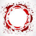 Grunge red splash circle Stock Photography